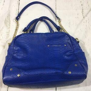 olivia + joy blue and gold handbag in GUC!